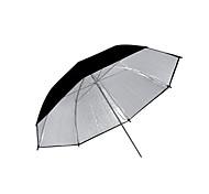 "33 ""de plata Studio Pro y de doble capa negro paraguas reflectantes (cca288)"