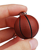 Key Chain Basketball Classic & Timeless Key Chain / Flexible Brown Plastic