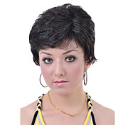 Short European Weave Black Hair Wig