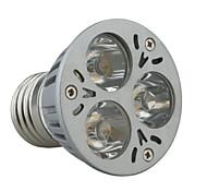 Spot Blanc Chaud E27 3 W 3 LED Haute Puissance 270 LM 3000-3500K K AC 85-265 V