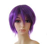 Capless Short High Quality Synthetic Purple Straight Hair Wigs 0988-NT007 3750