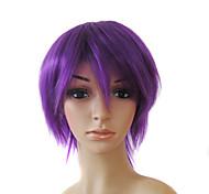 capless courte synthèse de haute qualité pourpre perruques cheveux raides 0988-nt007 3750