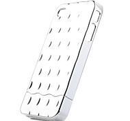 détachable cas arrière de placage pour iPhone 4 argenté