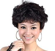 Capless Short High Quality Synthetic Black Curly Hair Wig