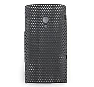 Чистая резкое защитный чехол для сотового телефона Sony Ericsson X10 (черный)
