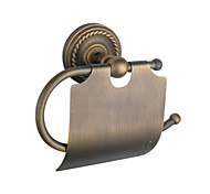 "Toilet Paper Holder Antique Brass Wall Mounted 195 x 135 x 80mm (7.7 x 5.3 x 3.1"") Brass Antique"