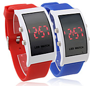 Pair of Silicone Band Red LED Wrist Watch(Blue and Red)