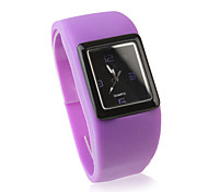 Fashion Women Watch Silicone Wrist Watchs - Purple