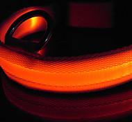 elegante collare lampeggiante per cani (29-39cm/11.4-15.3inch, rosso)