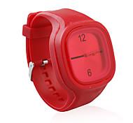 douce gelée de silicium montre, rouge