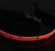 collare notte riflettente per cani (29-39cm/11.4-15.3inch, arancione)