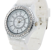 Women's Watch Fashion Diamond Case Silicone Strap