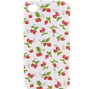 stilvolle Erdbeere Hartschalenetui für iPhone4G (weiß)