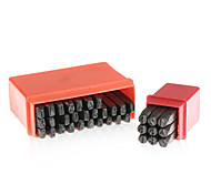 36 Pieces 4mm Letter and Number Punch Stamps