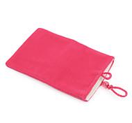 celular de moda bolsa de terciopelo para el iPhone (rosa roja)