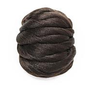 marrón pelo sintético peluca pan