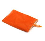 Trendy Cell Phone Vertical Velvet Bag Orange (4.3 inch Wide)