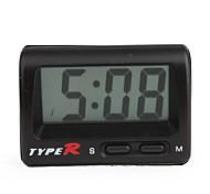LCD Digital Car Dashboard Desk Clock - Black