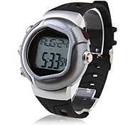 caloria contador de pulsos de freqüência cardíaca relógio monitor automático com alarme - prateado