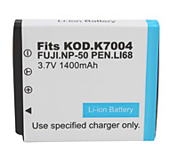 1400mAh 3.7V Digital Camera Battery NP-50/K7004 for FUJIFILM,CASIO and More