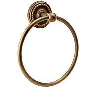 "Towel Ring Antique Brass Wall Mounted 75 x 183 x 183mm (2.95 x 7.20 x 7.20"") Brass Antique"