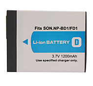 1200mAh Camera Battery NP-BD1/FD1 for SONY T200, T70