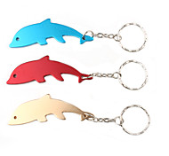 Dolphin Shaped Bottle Opener Keychain (Random Color)