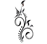 5 Stück Blume wasserdicht temporäres Tattoo (12,5 cm * 6,5 cm)
