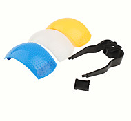 Universal 3 Colors Pop-Up Flash Diffuser Cover for Camera