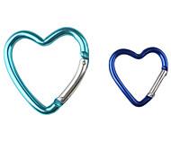 Heart Shaped Aluminum Carabiner (Random Color)