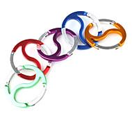 Huit Diagrammes en forme de mousqueton aluminu (couleur aléatoire)