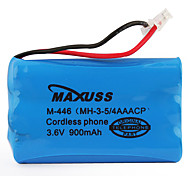3.6V 900mAh Cordless Phone Replacement Battery
