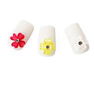 20 pièces de cristal prune fleur décalcomanies UV nail art