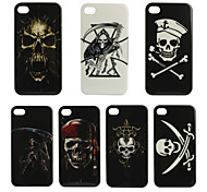 Skelett-Design Kunststoff-hard cover Fall für iPhone 4 (assoted Farbe)