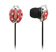 Ladybug Style In-Ear Earphones (Red)