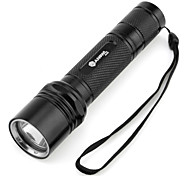 LED Flashlights/Torch / Handheld Flashlights/Torch LED 5 Mode 1000 Lumens Cree XM-L T6 18650 Others , Black Aluminum alloy