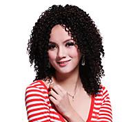 sem tampa médio superior peruca sintética grau cacheados