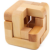 Magic Wooden IQ Puzzle Cube