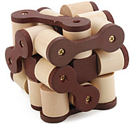 Wooden Chain Style IQ Magic Cube Puzzle