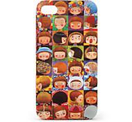 espressione delle bambine caso modello di protezione per iPhone 4 e 4s (marrone)