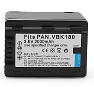 Digital-Camcorder-Akku für Panasonic HDC-HS60 (3.6V, 2000mAh)