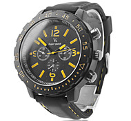 V6® Men's Sports Style Black Silicone Band Quartz Wrist Watch  Cool Watch Unique Watch