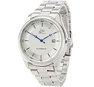 Men's Auto-Mechanical Dress Style Silver Steel Wrist Watch