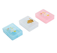 4-Slot Plastic Storage Box (Assorted Colors)