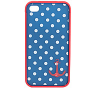 Etui de Protection en Polycarbonate pour iPhone 4/4S - Ancre et Pois