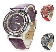 Frauen pu analoge Quarz-Armbanduhr (verschiedene Farben)