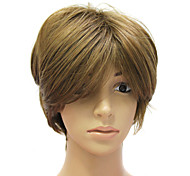 Capless Short High Quality Synthetic Light Brown Straight Hair Wig