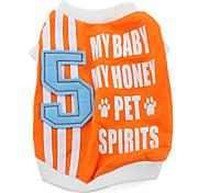 № 5 стиль майка для собак (XS-XXL, оранжевый)