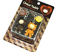 Cute Lollipop Teddy Bear Style Couple's Cell Phone Strap