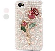 metallo rosa stile custodia protettiva per iPhone 4 e 4S (rosa)